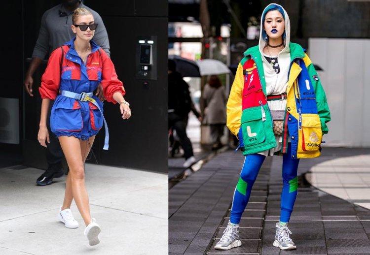яркие модные парки куртки