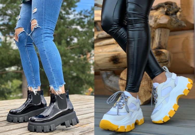 осенние ботинки на массивной подошве