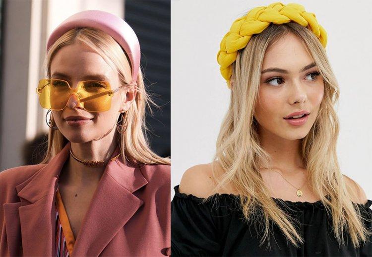 Модные обручи для волос 2021