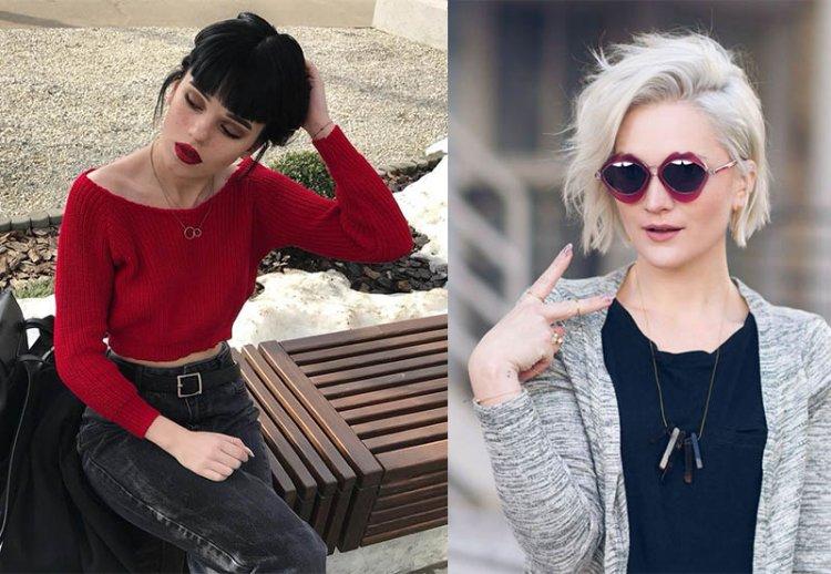 модные черный цвет волос и блонд