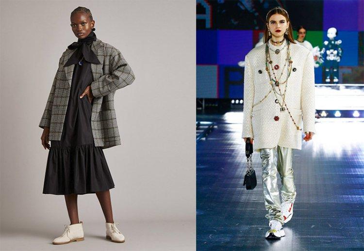 модное пальто-пиджак