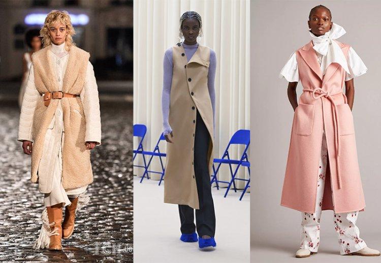 одежда без рукавов на осень-зима 2021 2022