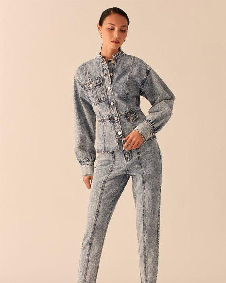 как носить приталенную джинсовую куртку