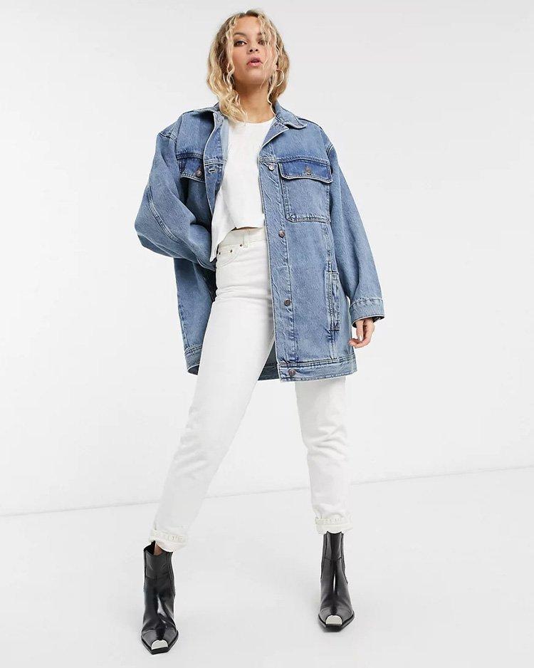 с чем носить джинсовую куртку оверсайз