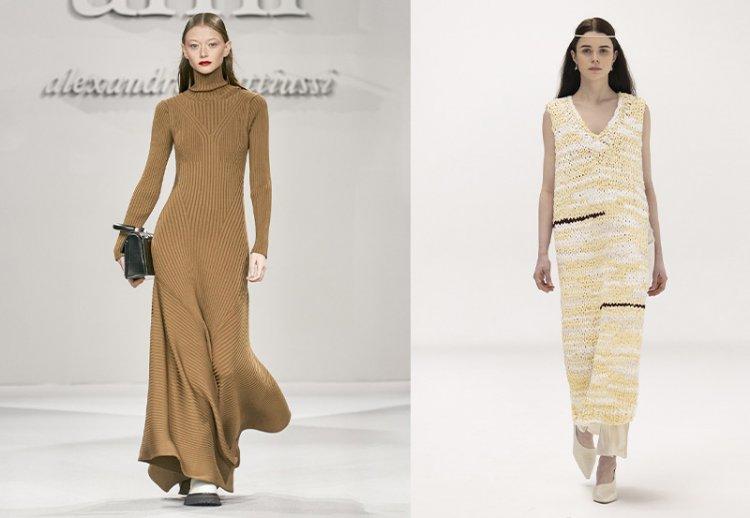 трикотажные платья на осень 2021