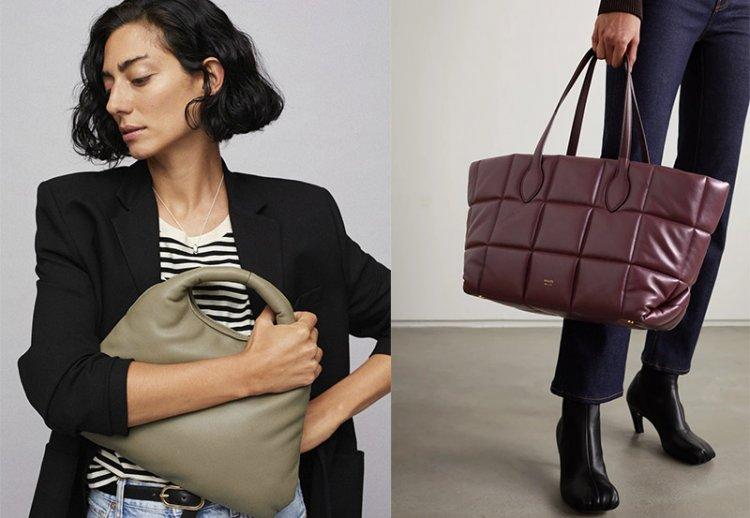 модные дутые сумки