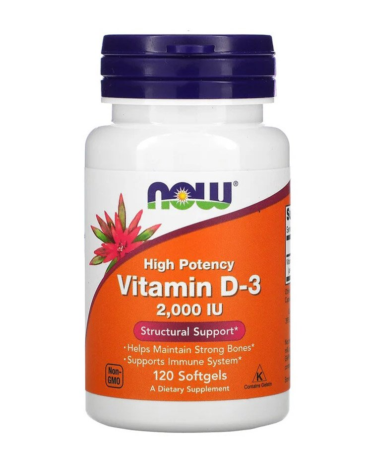 Now Foods, витамин D3, 50 мкг (2000 МЕ)