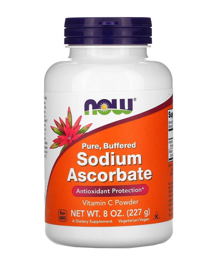 Now Foods, порошок аскорбата натрия-витамин с