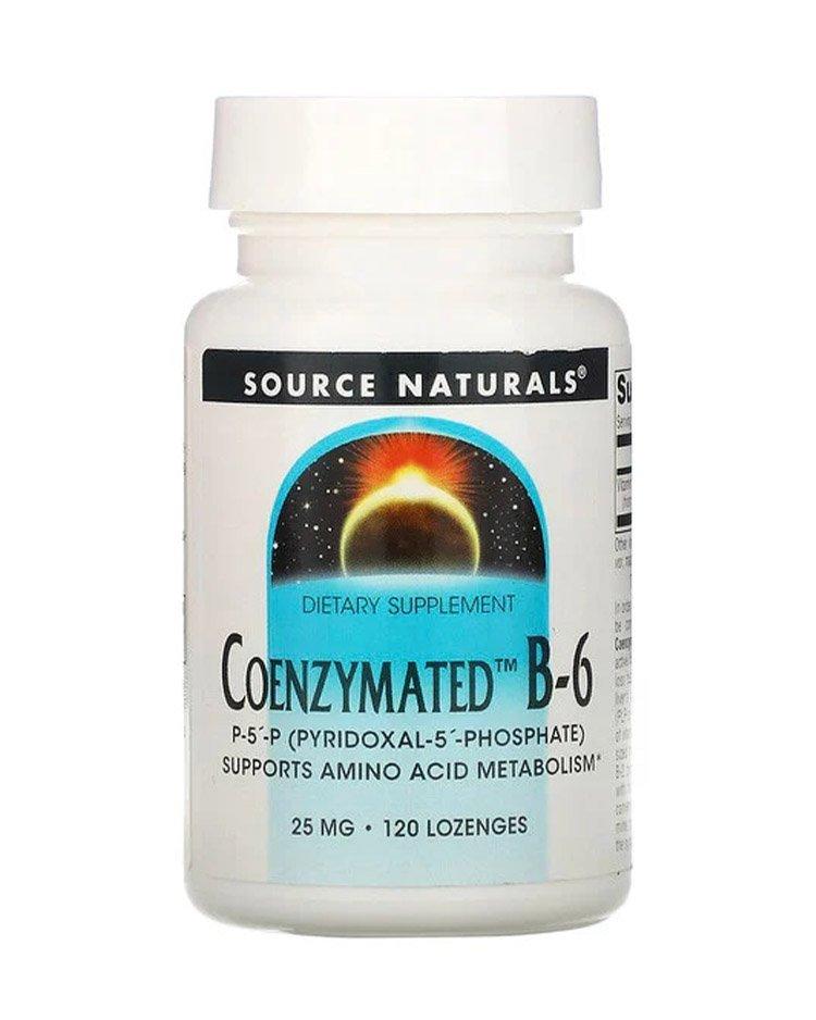 Source Naturals, ферментированный витамин B-6, 25 мг