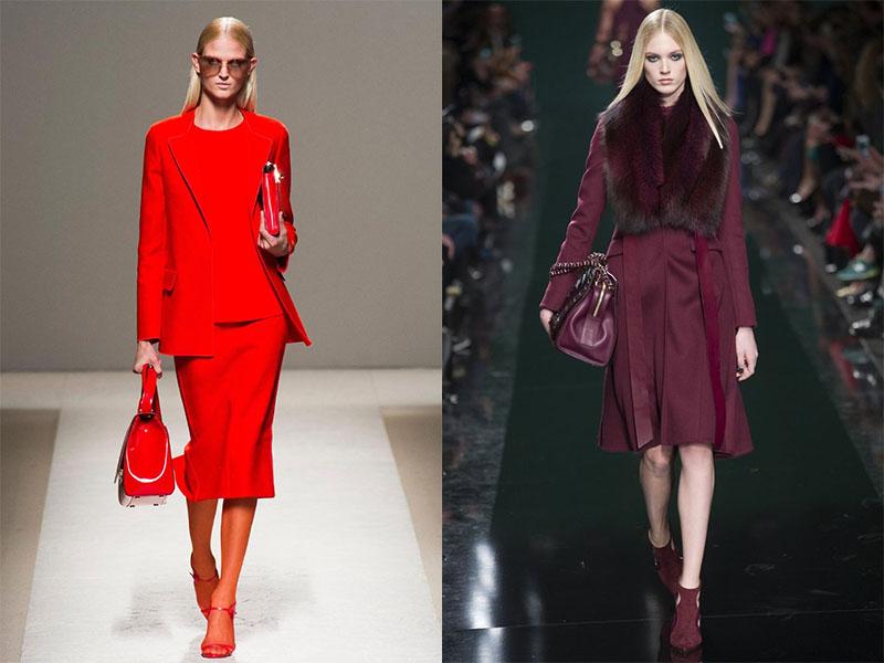 Одежда красного и бордового оттенка