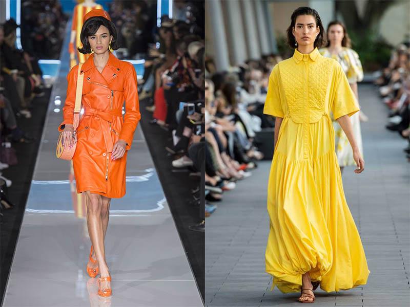Одежда желтого оттенка