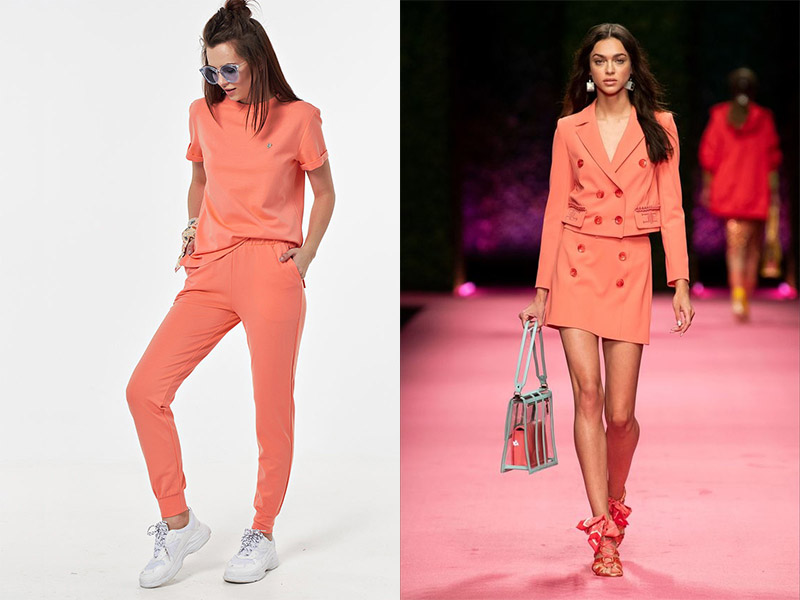 Одежда лососевого цвета