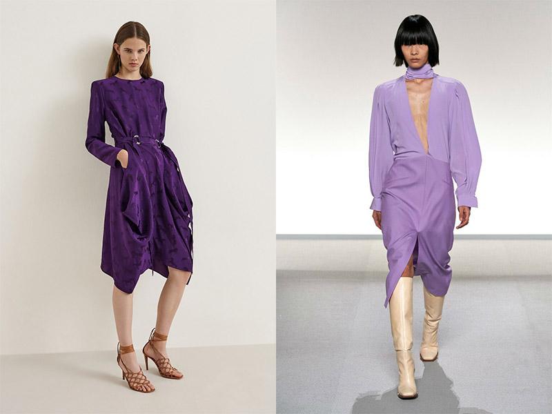Одежда фиолетового цвета