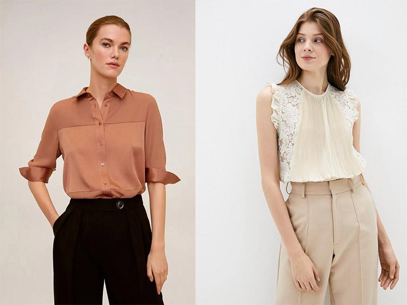 базовая классическая блузка