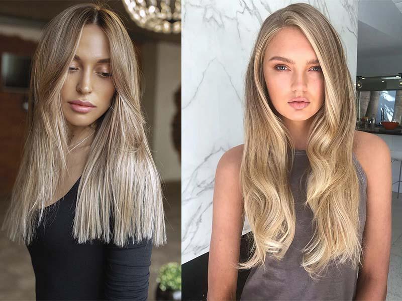 Окрашивание натуральный блонд