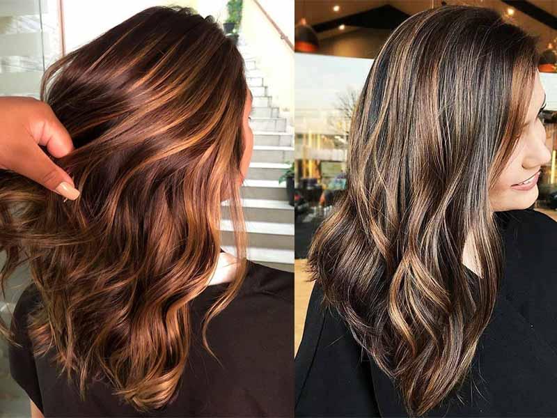 Окрашивание волос в каштановый цвет