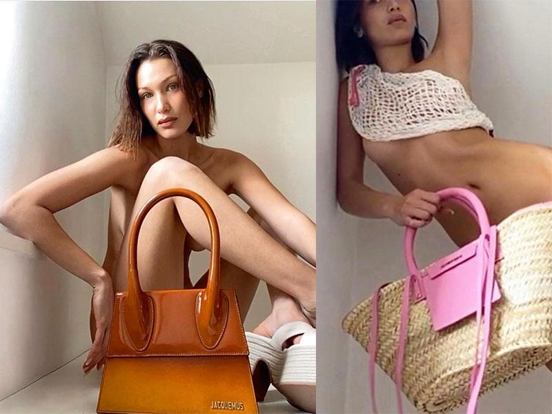 Белла Хадид рекламирует сумки