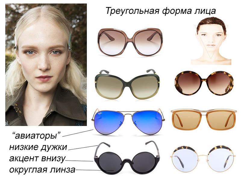 Очки для треугольной формы лица