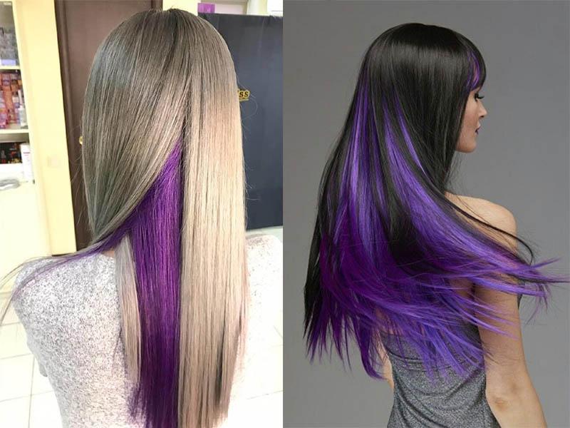 Скрытое фиолетовое окрашивание