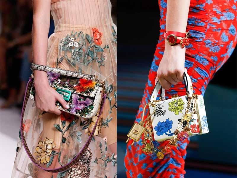 сумка в цветочек