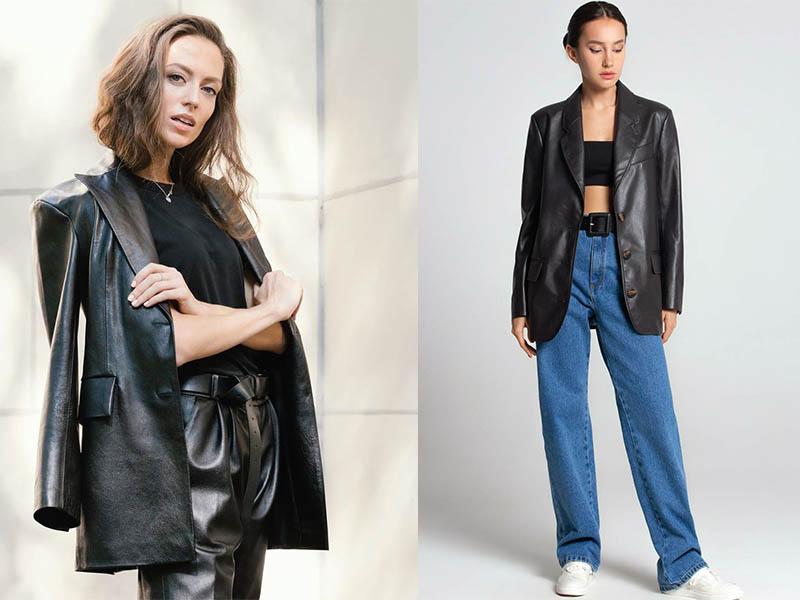 кожаный пиджак 2020 2021